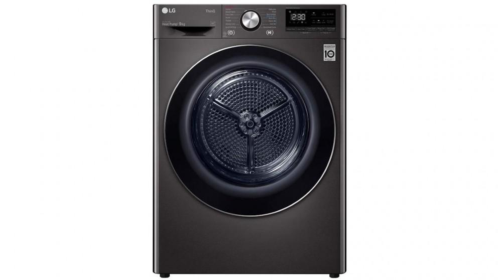 LG 9kg Heat Pump Dryer with Inverter Control - Black Steel