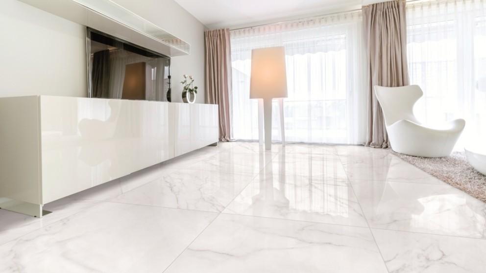 Carrara 600x600mm Glazed Porcelain Polished Tile