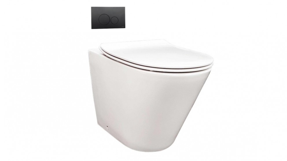 Parisi Linfa Rimless Wall Faced Pan with In-Wall Cistern and Flushplate