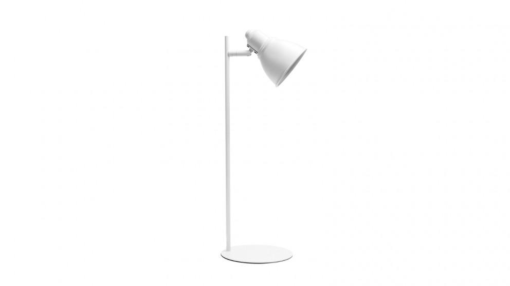Lexi Lighting Kelvin Metal Ultra-slim Desk Lamp - White