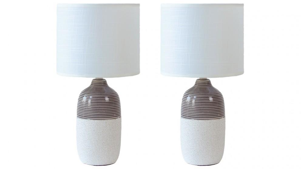 Lexi Lighting Set of 2 Botany Ceramic Table Lamp
