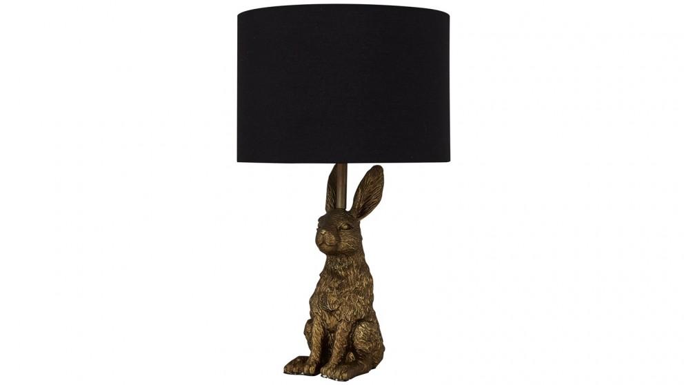 Lexi Lighting Rabbit Sitting Table Lamp - Gold
