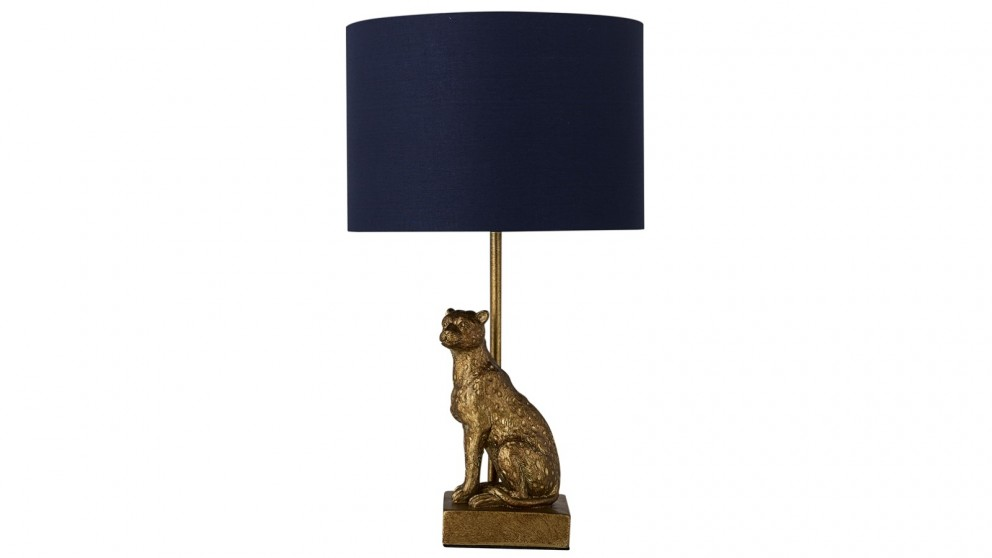 Lexi Lighting Cheetah Sitting Table Lamp - Copper