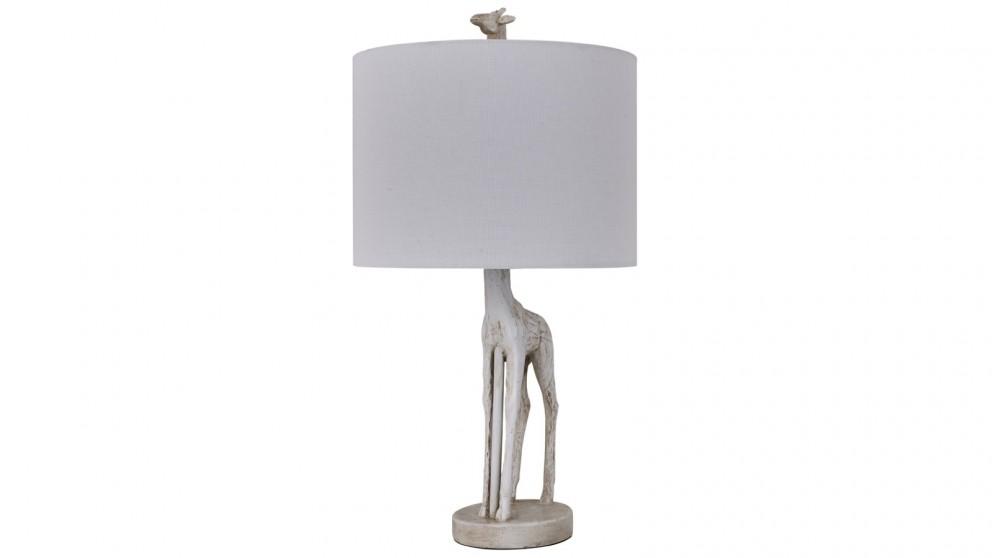 Lexi Lighting Giraffe Standing Table Lamp - White