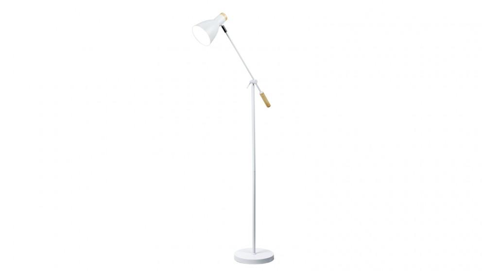 Lexi Lighting Scandinavian Adjustable Floor Lamp - White