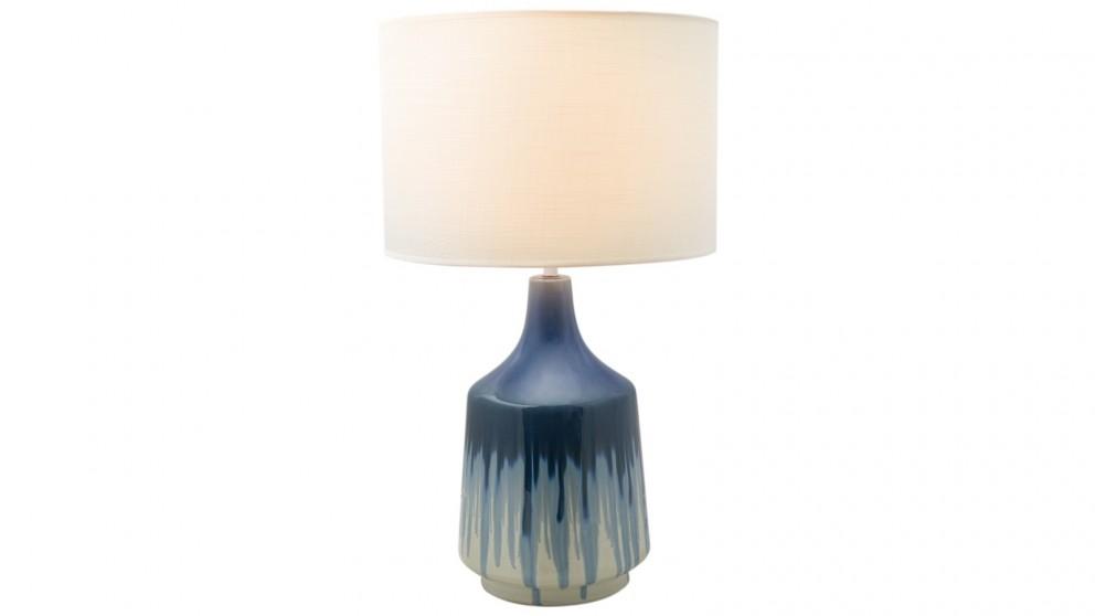 Lexi Lighting Martha Ceramic Table Lamp - Blue