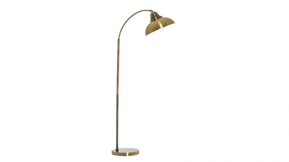 Lexi Lighting Manor Metal Floor Lamp - Weathered Brass