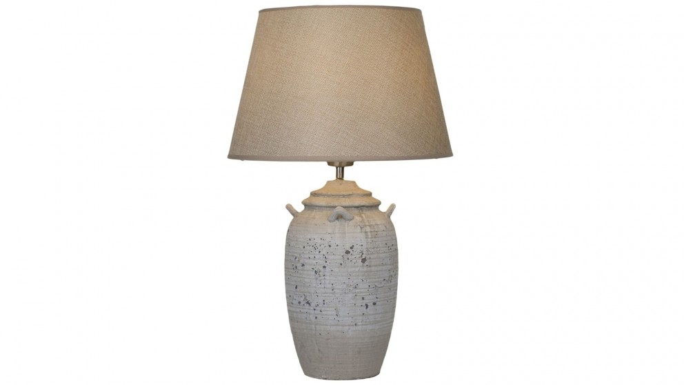 Lexi Lighting Ebony Ceramic Table Lamp - Grey