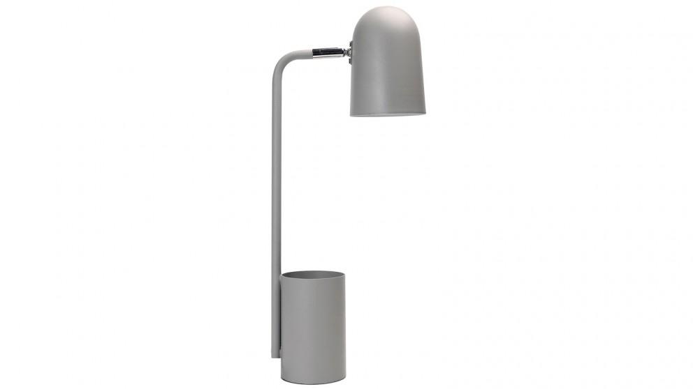 Lexi Lighting Keegan Pen Holder Desk Lamp with Cylinder Base - Grey
