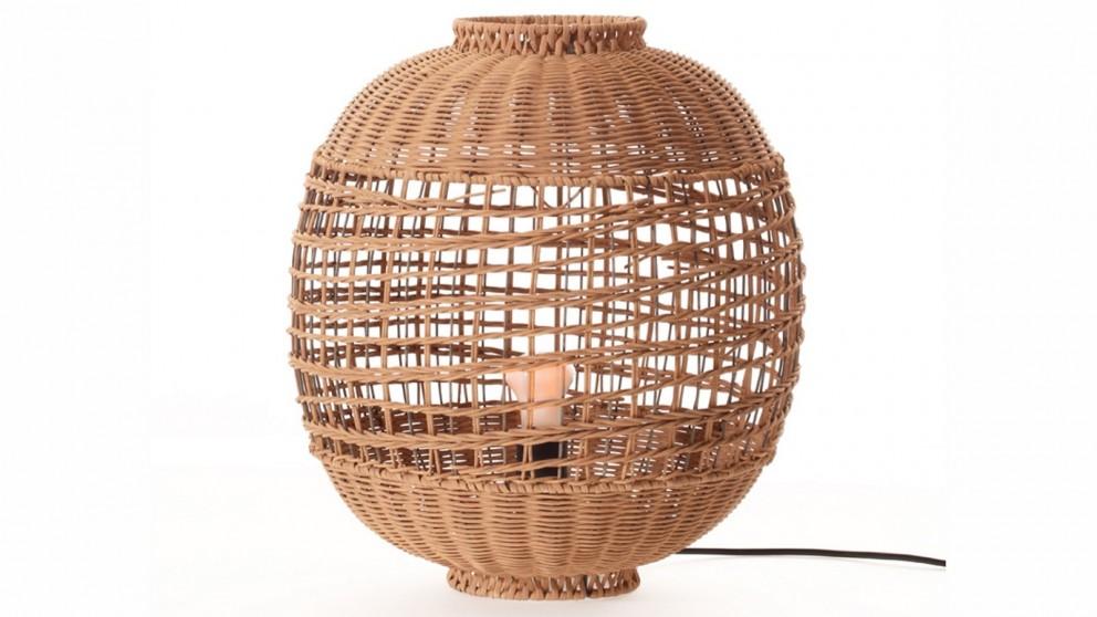 Lexi Lighting Galena Rattan Table Lamp