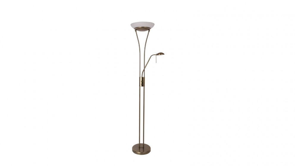 Lexi Lighting Reed LED Mother & Child Floor Lamp - Antique Brass