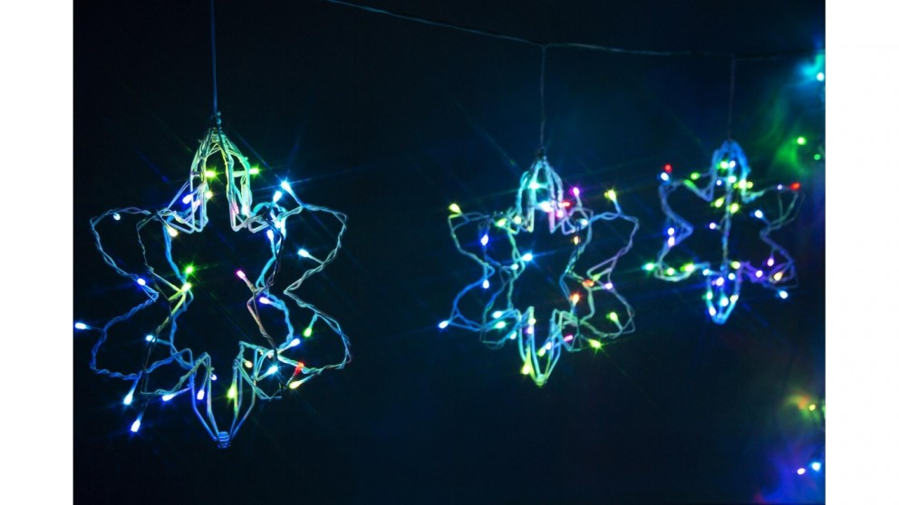 Lexi Lighting 3D Foldable String Light with 6 Pieces - Snowflakes