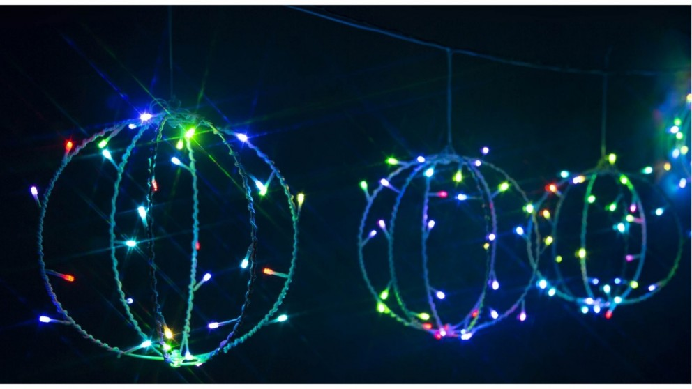 Lexi Lighting 3D Foldable String Light with 6 Pieces - Balls