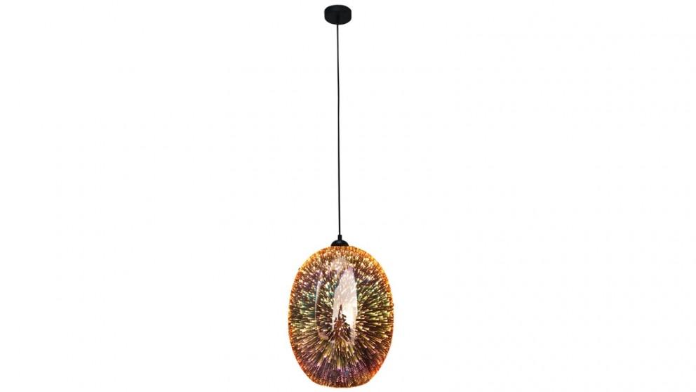 Lexi Lighting Moravian Glass Oval Pendant Light - Copper
