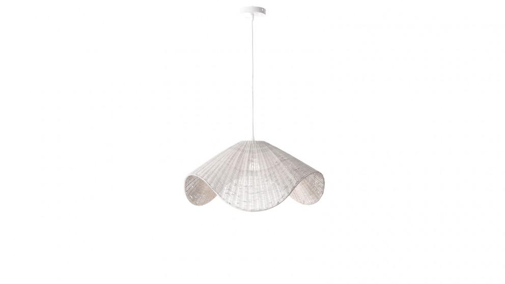 Lexi Lighting Adaya Rattan Pendant Light - White