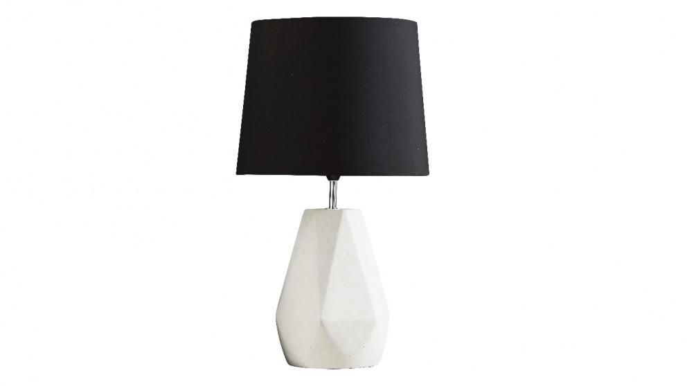 Popsicle Cement Table Lamp - Black