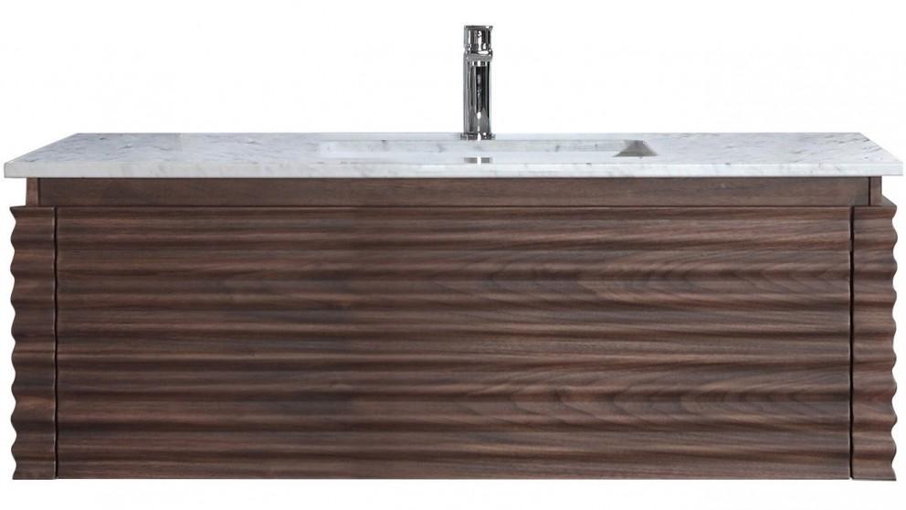 Parisi Loom 1200mm Black Wallnut Wall Cabinet with Wash Basin