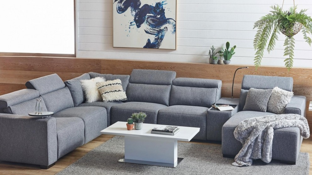 reclining sofa with chaise Buy Benton Fabric Powered Recliner Sofa with Chaise | Harvey Norman AU reclining sofa with chaise