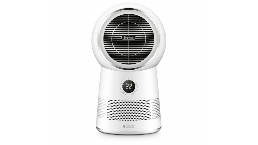 Breville the AirRounder Connect Heater, Fan and Purifier - White