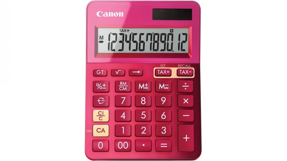 Canon LS123K Calculator - Metallic Pink