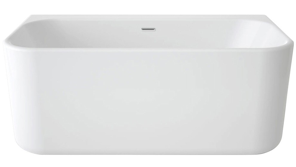 Luna Contemporary 1400mm Back to Wall Freestanding Bath