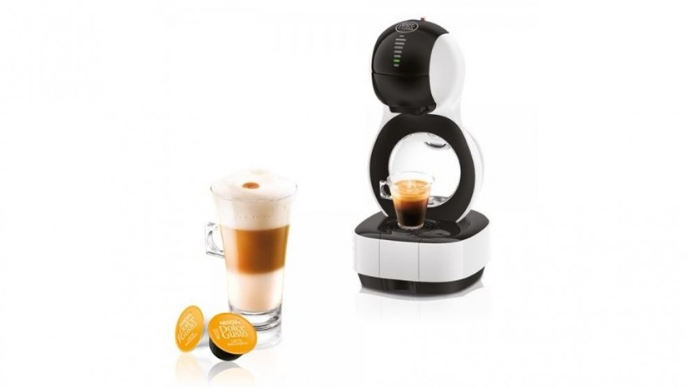 cheap nescafe dolce gusto lumio coffee machine white harvey norman au. Black Bedroom Furniture Sets. Home Design Ideas