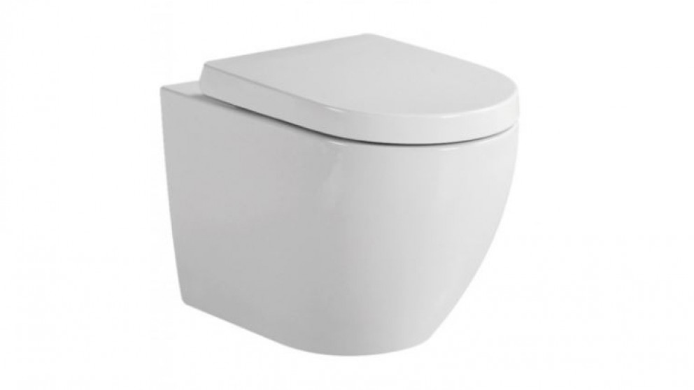 Verotti Luci Zero Wall Faced Pan with Concealed Cistern and Remote Square Chrome Flush Plate