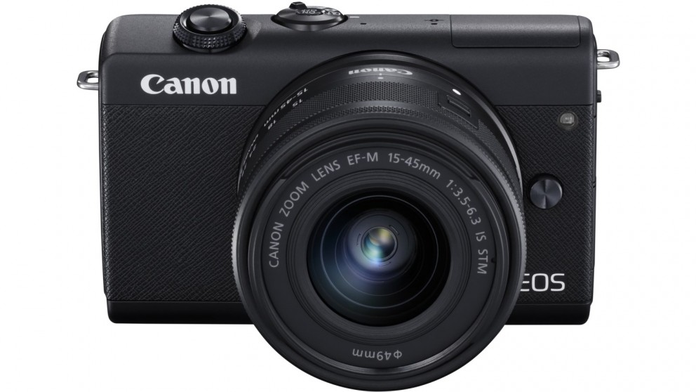 Canon EOS M200 Mirrorless Camera with 15-45mm Lens Kit - Black