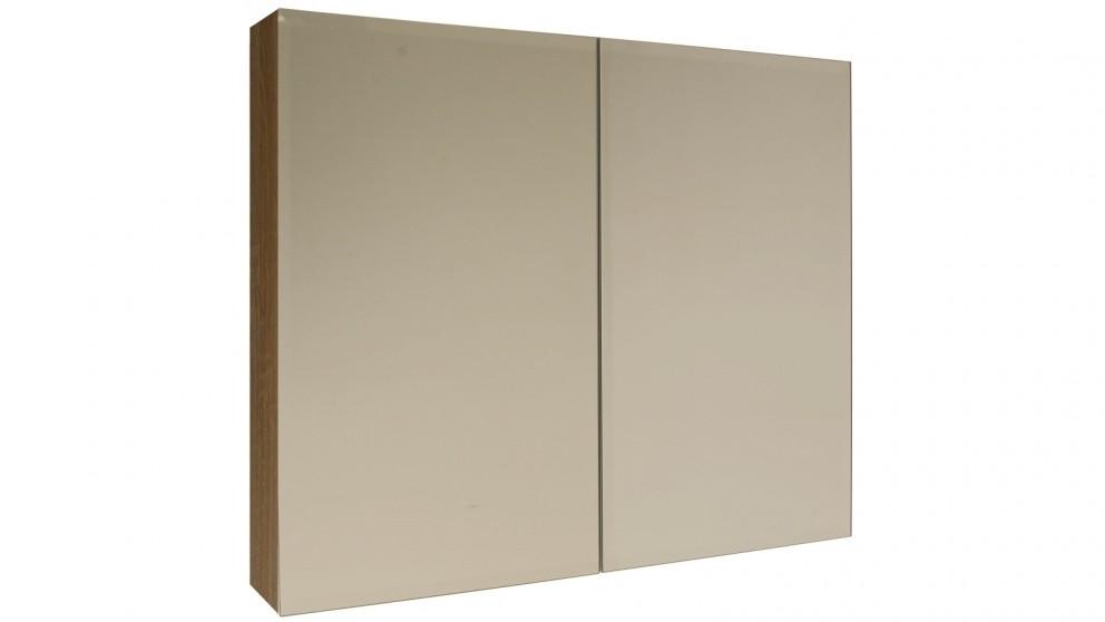 Ledin Mosman 900mm Mirrored Shaving Cabinet - Wallnut
