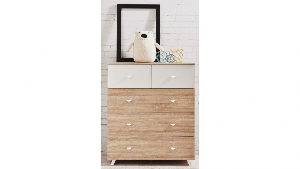 Maali 5 Drawer Tallboy