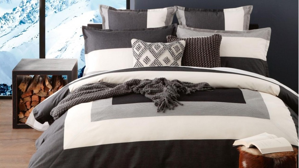 Madden Grey Quilt Cover Set
