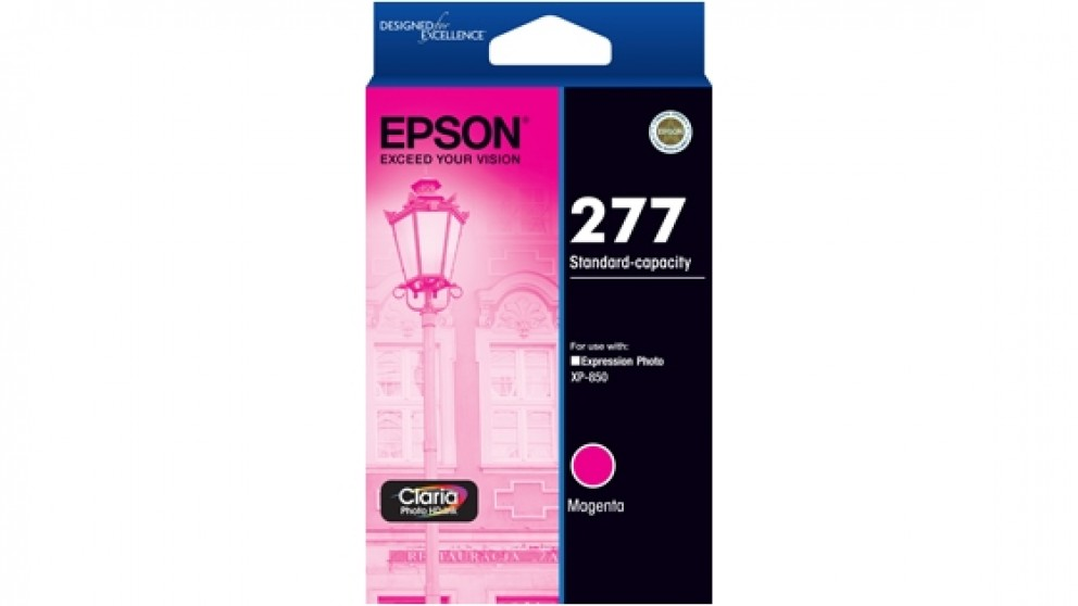 Epson 277 Std Capacity Claria Photo HD Ink Cartridge - Magenta