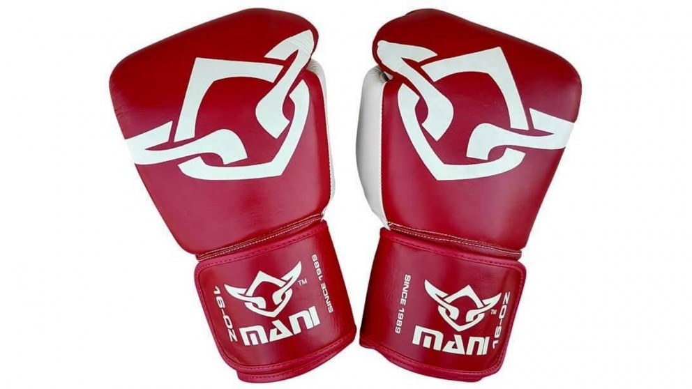 Mani Sports Muay Thai Boxing Gloves Burgundy