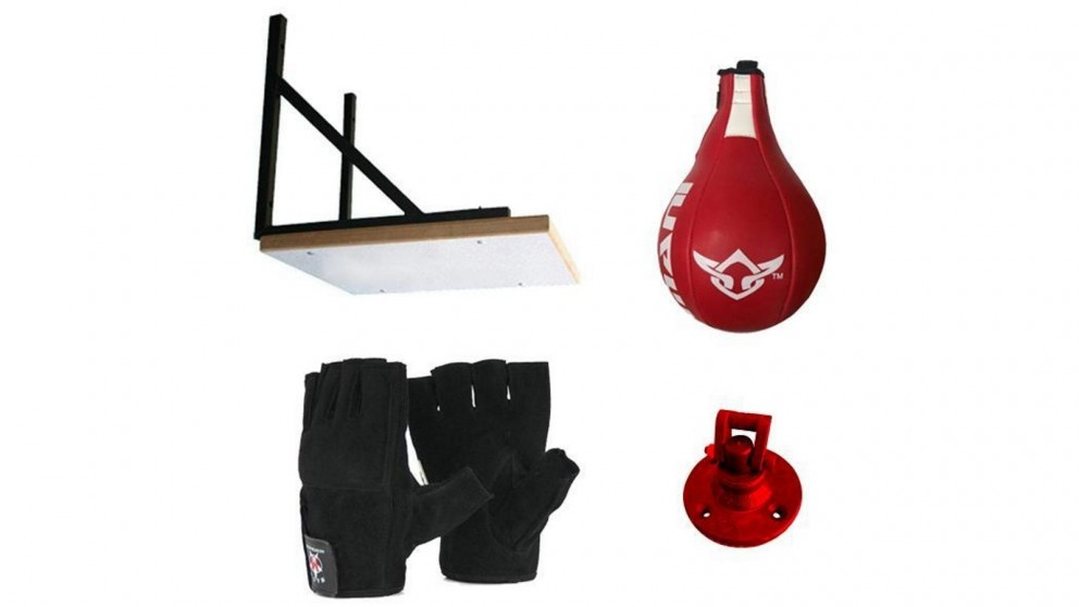 Mani Sports Speedball Frame with Speed Ball and Gloves Bundle