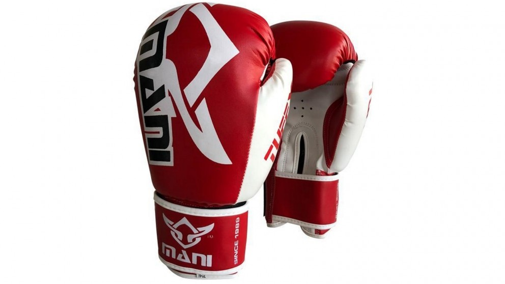 Mani Sports TuffX Boxing Gloves - Red and White