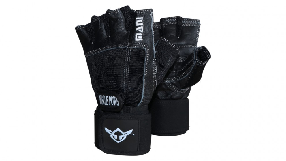 Mani Sports Deluxe Leather Muscle Power Gloves