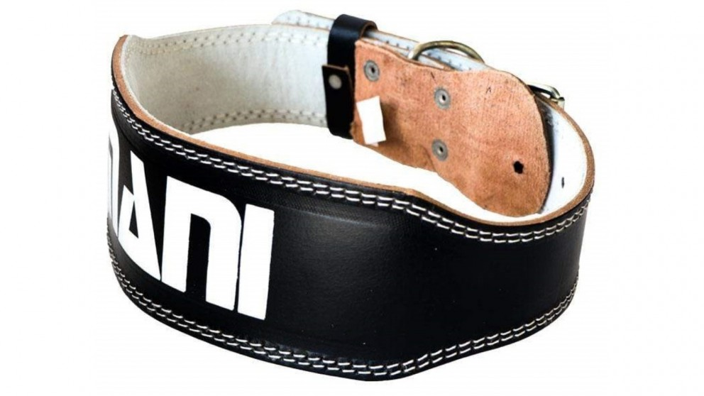 Mani Sports Leather 4-inch Weight Training Belt (Top Quality Leather)
