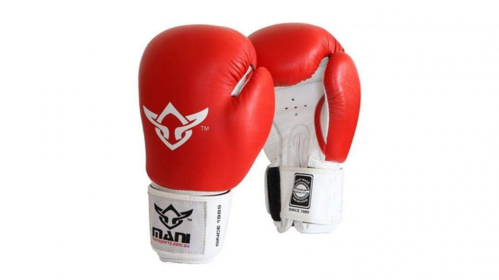 Mani Sports Leather Pro-Sparring Boxing Gloves