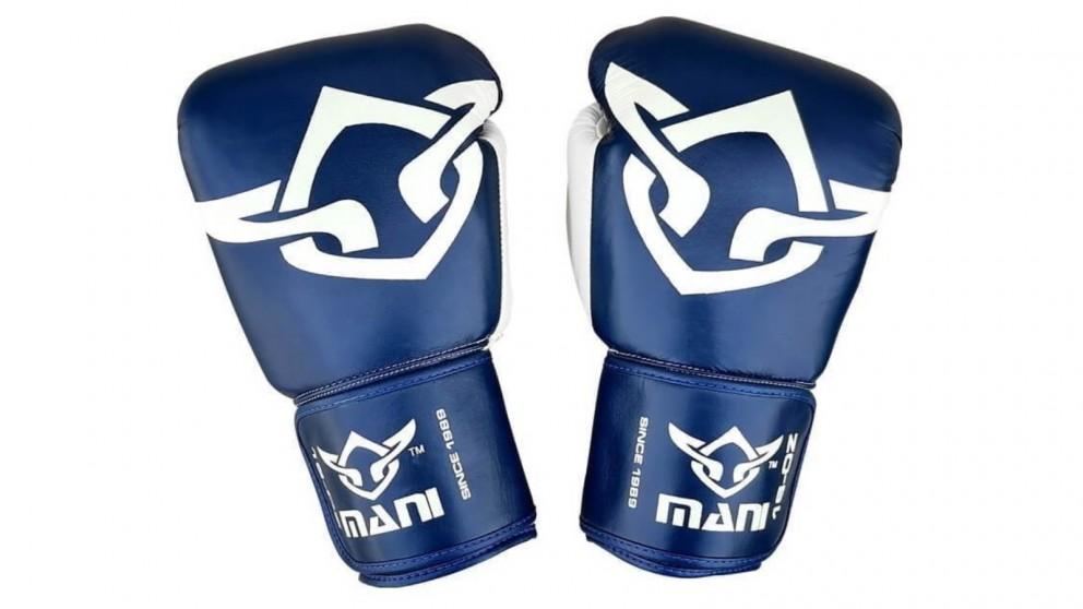 Mani Sports Muay Thai Boxing Gloves Blue