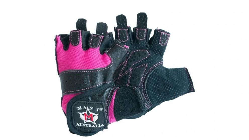 Mani Sports Pink Weight Training Gloves