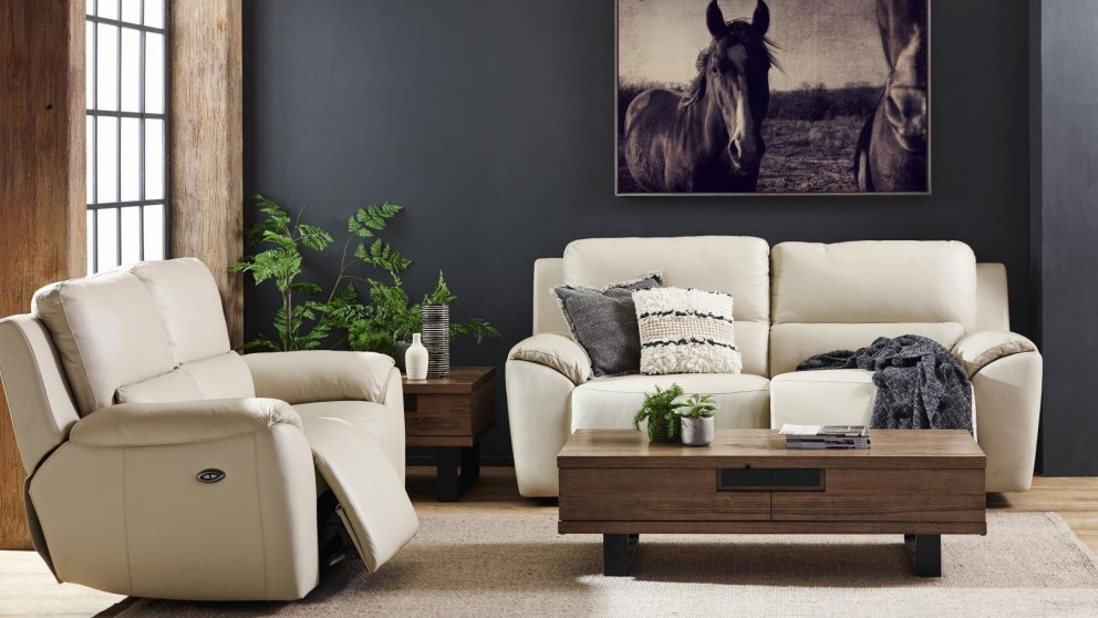 Marco MKII 2 Piece Powered Leather Recliner Lounge Suite