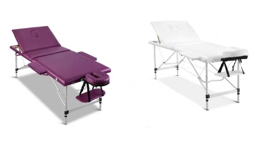 Zenses Portable Aluminium 3 Fold Massage Table - 75cm