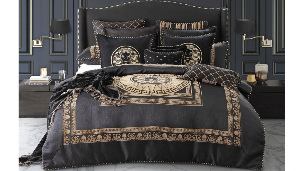 Massimo Black Quilt Cover Set