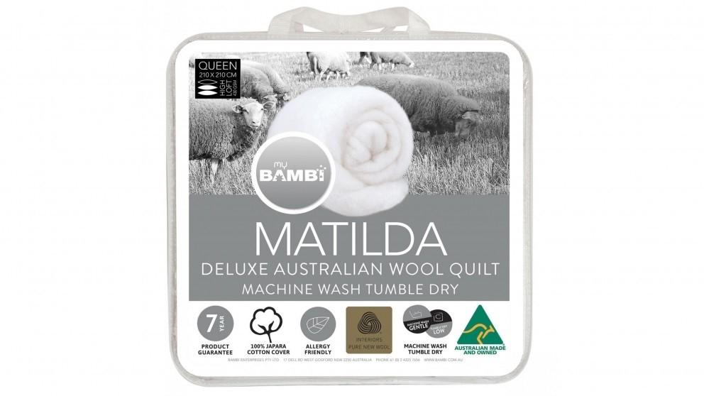 Matilda Woolmark Gold Label Lightloft Queen Quilt