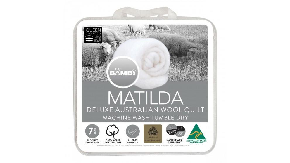 Matilda Woolmark Gold Label All Seasons Duo Queen Quilt
