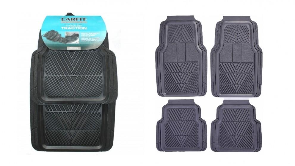 Carfit Traction Rubber Car Floor Mat 4 Piece Set