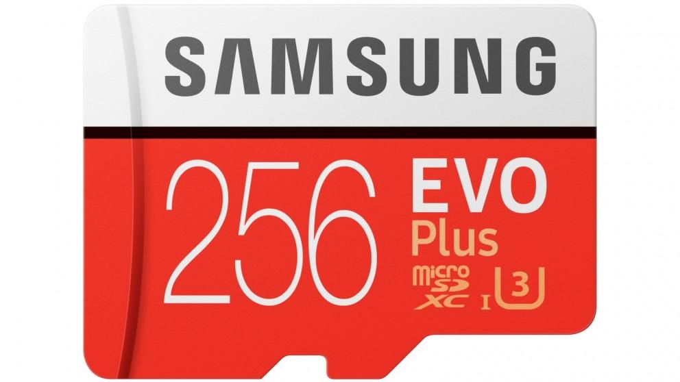 Samsung Evo Plus 256GB Micro SDXC Memory Card with SD Adapter
