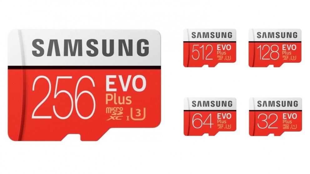 Samsung Evo Plus Micro SDXC Memory Card with SD Adapter