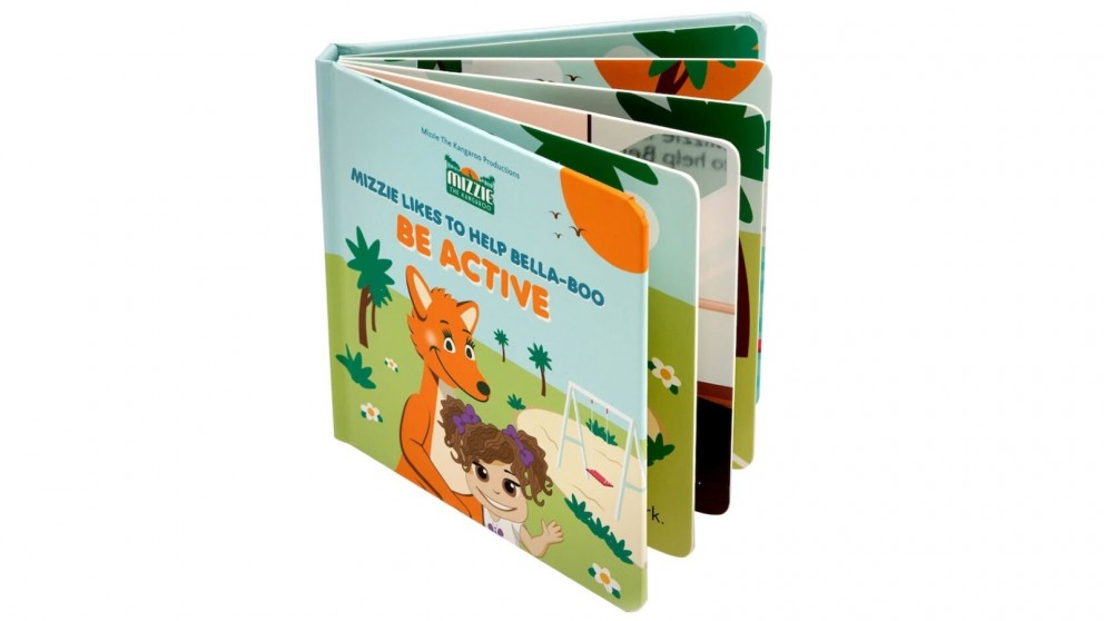 Mizzie The Kangaroo Be Active Touch & Feel Book