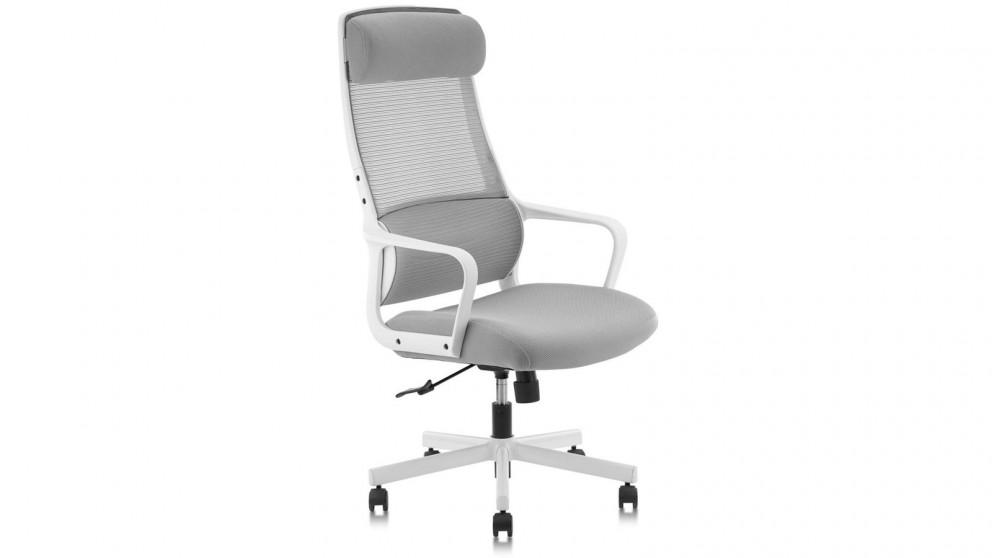 Huali Jair Office Chair - White/Grey